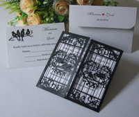 Wholesale 50 Wedding Invitations Laser Cut Customizable Hollow Birdcage Wedding Invitation Cards Supplies Printable Cards
