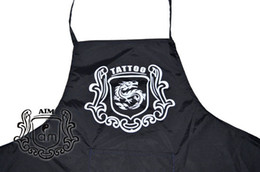 Wholesale New Style Tattoo Artist Apron Waterproof Reuse Black Nylon With Pocket