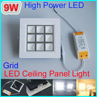 9W No LED 9W Epistar High Power LED Ceiling Panel Lighting 100-240V indoor lighting 840lm Warm White Cool white square LED Downlight Lighting CE ROHS