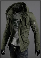 Jackets Men Denim Spring leisure paragraph thin jacket male han edition cultivate one's morality man army green jacket uniform coat big yards