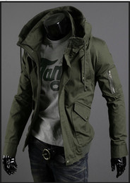 Wholesale Spring leisure paragraph thin jacket male han edition cultivate one s morality man army green jacket uniform coat big yards