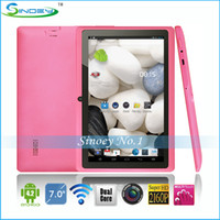 Wholesale Cheap inch A23 Q88 Dual Core Tablet PC Android Kitkat Allwinner A23 M GB GHz P WiFi SuperPad A13 Q88 Updated version
