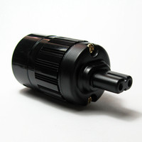 Wholesale World Plug C7R Speaker Connectors Audio Plug IEC Gold Plated Connectors Splayed tail plug Speaker Plug