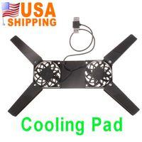 Wholesale US Stock To USA CA Hot Sale Fan USB Cooler Pad Folding Laptop Notebook PC Cooling Fan UPS