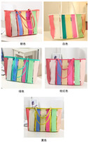 Totes Women Plain Wholesale - free shipping 2013 summer high quaity beach bag transparent big rainbow jelly handbag women's handbags shoulder bags 4 colors