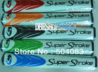 Wholesale HOT NEW golf equipment PU Super Stroke FATSO Coarse Golf Puter Grips10pcs Color Can mix Grips Color EMS