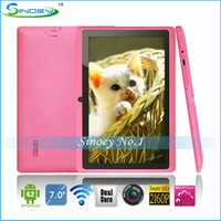 Wholesale 7 inch A23 Tablet Q88 Allwinner A23 Dual Core Kitkat Android Tablet PC Q8 cortex A8 GHz D WiFi P E book Apad By DHL