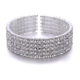 Wholesale New Style Bridal Accessories bride dinner ornaments rows Rhinestone Bracelet