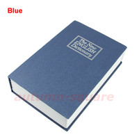 Wholesale PC Security Dictionary Book Cash Money Jewelry Safe Storage Box Metal Case w lock Middle