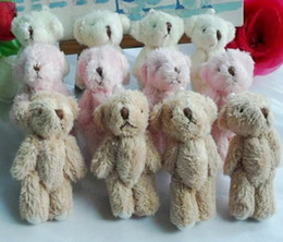 Wholesale NEW CM colour Cute Mini Bear Small joints bear Plush toys Baby doll The best gift Toy dolls Boys Children s gifts