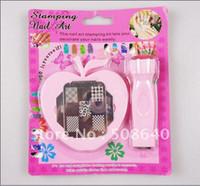 Nail Art Stamping Kit   Wholesale - - Freeshipping DIY Stamping Nail Art Kit For Nails Printer Tool With Image Plate s 114
