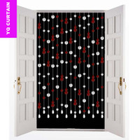 Wholesale Suitable For Width meters Lucky Lagenaria Siceraria Crystal Glass Beads Curtains For Door Modern Doors Curtain