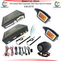 Alarm Systems & Security 12V CD-T171 Promotional PKE two way car alarm,RFID alarm system,FM frequency,remote start,temperature start,timer start,hopping code
