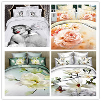 100% Cotton Hotal Adults free shipping 4pcs queen size marilyn monroe bedding