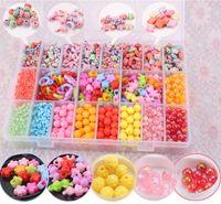 Wholesale Beads Charms DIY beading accessories lattice bead OVER Beads plastic box kit