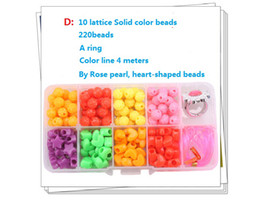 Wholesale Diy Bracelet beading accessories kit Beads Charms lattice Beads plastic box kit