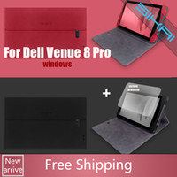 Wholesale New Leather Case Protective Cover Shell For inch Windows System tablet pc Dell Venue pro screen protector