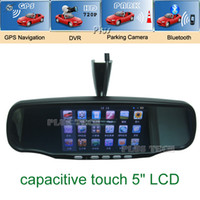 GPS Navigator,Vehicle GPS Units & Equipm Yes Item 4 New arrival 5 inch Capacitive Touch Screen Rear view mirror GPS navigation with DVR, Parking Camera, bluetooth