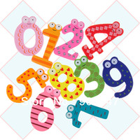 Wholesale New Wooden Figure Numbers Baby kids Children Educational Tool toys Colorful Fridge Stick Magnet
