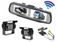 Parking Assistance Yes Wireless car Wireless Double Screen 4.3 inch TFT LCD Mirror Monitor + 2 HD CCD Reversing Waterproof IR Night Vision Backup Camera Kit