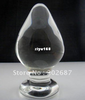 Male large glass dildos - new anal sex toys large size crystal dildos large C glass dildos anal plug butt plug chastity craft Sex Toys