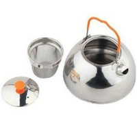 Wholesale Outdoor Camping Pot Hiking Cookout Set Picnic Cookware Teapot Coffee Kettle Set