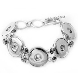 Wholesale D00051 new hottest classic noosa chunks bracelet with rhinestone trendy snap button jewelry