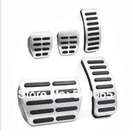 Wholesale Stainless Car pedal Cover for MT Volkswagen VW Polo Bora Lavida Golf MK4 New Beetle Jetta Santana Clutch Gas Brake pedals Pads