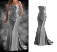 Reference Images sexy nighty wear - WM Women Evening Dresses Sexy Shiny Beading Crystal Dress Strapless With Sweep Train Mature Nighty Wear Costume Formal Pageant Dresses