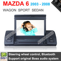 "MP3/MP4 Players Car Console 800*480 7"" Car DVD Player with GPS navigation for MAZDA 6 ( 2003 - 2008 ) Mazda Wagon Sport Sedan TV Bluetooth Dual Zone Bluetooth"