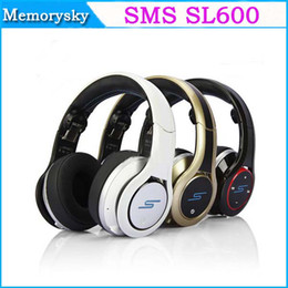 Wholesale 2013 NEW SMS AUDIO cent headphones SMS Audio DJ Pro Wireless SL600 STREET Gold black white fast ship via DHL