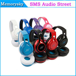 Acheter en ligne Rue sms via un casque d'oreille-2013 SMS Audio Wired Street de 50 Cent Over-Ear 8 couleurs On-Ear Headphones DJ Casques casque 002140