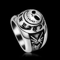 Wholesale Top Quality Fashion Jewelry Skull Smiling Face Stainless Steel Ring Gothic amp Vintage Biker Look Style US Size to