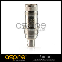 1.8ohm, 1.6ohm CE RoHS Electronic Cigarette Wholesale - aspire replacement atomizer for Aspire Nautilus airflow control Clearomizer nautilus replacement atomizer coil head 1.8 1.6ohm