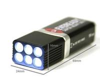 Wholesale Volt LED Flashlight Torch White Light Bulbs V Battery Camping Emergency