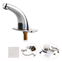 Basin Faucets Single Handle Polished 1 pc Chrome Mixer Water Tap Auto Infrared Sensor Kitchen Bathroom Faucet Sink Basin 110v
