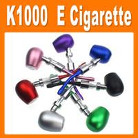 Black Electronic Cigarette Set Series E cig e-pipe K1000 mod kits 1:1 Kamry K1000 Battery 900mAh Vaporizer epipe K1000 Atomizer Huge Vapor Detachable E cigarette K1000 (0212035)