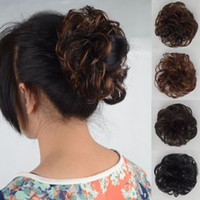 Wholesale 24pcs Curly hair bun chignon women s hair wig balls Bun Hair Chignon Synthetic Donut Roller Hairpieces Factory price