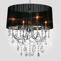 Modern 85-265V LED Wholesale New Free Shipping modern Chandeliers fashion crystal candle pendant lamp lighting for home living room square design light lamp
