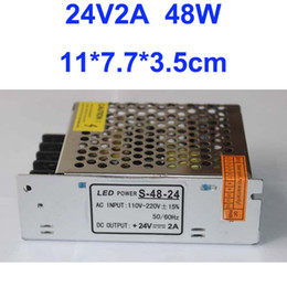 Free Shipping, 2A 48W Switching 24V Power Suply Driver For LED Strip light AC100V-240V Input, CE&RoHS Certified