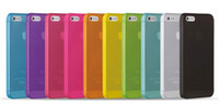 super slim - 0 mm Super Thin Slim Matte Frosted Transparent Clear Soft PP Cover Case Skin for iPhone S Clear