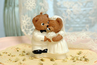 Wholesale bear couple animal shaped wedding candle birthday candle art candle