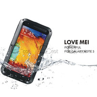 Wholesale Love Mei Lunatik Taktik Case Cover for Samsung Galaxy Note III Note3 N9000 Gorilla Glass amp Metal Warrior Aluminum good package best price