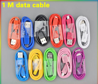 For Apple iPhone   USB Data Sync Cable Charger Cables 1M 3FT Noodle Micro USB Charging For Samsung Galaxy S5 S4 S3 S2 Note 2 HTC One Blackberry LG Nokia Sony