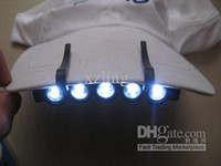 Wholesale 100pcs led Camping Clip On Cap Hat FlashLight Light