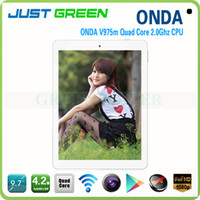 Onda 9.7 inch Quad Core World Stongest Octa Core GPU Onda V975M Android Amlogic Cortex-A9 2.0GHz 9.7 Inch Retina Screen 2GB Ram 16GB Rom Tablet PC 2048*1536 pixels