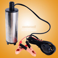 Wholesale 2014 High quality V DC Mini Fuel Water Oil Car Camping Pump fishing Submersible Diesel Transfer Pump SV000325 A0012