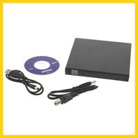 Wholesale 10pcs USB DVD CD DVD Rom SATA External Case Slim For Laptop Notebook