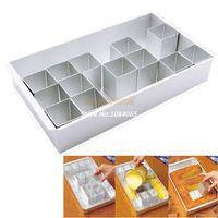 FDA cake tins - Promotion Silver Aluminum alloy Any Alphabet Letters Number Cake Tin Pan Create Decorating Fondant Baking Mold TK0988