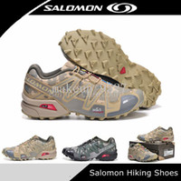2014 New Camouflage Salomon SpeedCross 3 men's Athletic Hiki...
